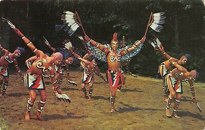 Cherokee North Carolina 1966 Postcard Cherokee Indian Eagle Dance