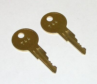 2 - T44 Replacement Keys fit Traulsen Refrigeration Equipment