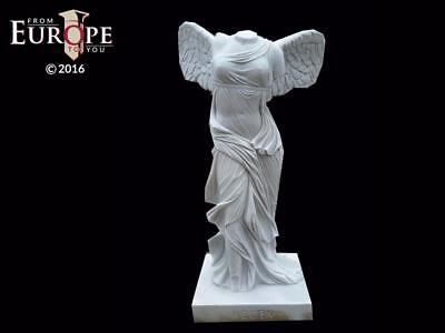 "Beautiful Hand Carved Winged Glory 72"" Marble Statue - Jdt9"