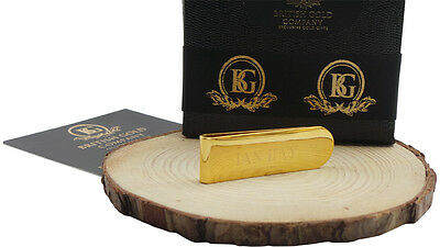 Engraved Money Clip Credit Card Gold Clad in Luxury Gift Box ENGRAVED FREE