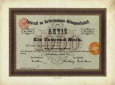 Tattersall am Kurfürstendamm 1906 Berlin Charlottenburg Theater Reitbahn Pferd