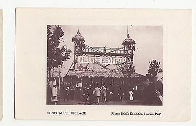 Franco British Exhibition, Senegalese Village Postcard, A561