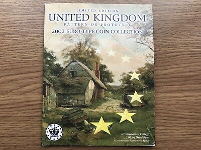 2002 UK Euro Pattern Type Set 8 Coin Collection United Kingdom / GB