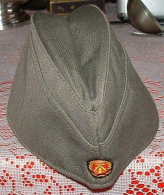 DDR East German Army Side Wedge Cap Light Grey 1954 NVA Size 57 Soviet Communist