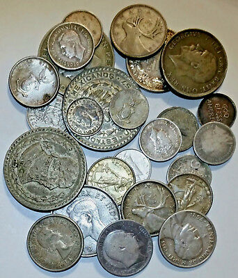 Silver World Coins - just over 4.6 troy oz from 10-92.5 fine: 24 pcs total