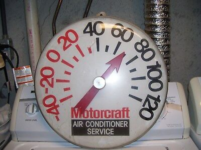 Old Motorcraft auto parts Ford service Thermometer sign gas oil Vintage station