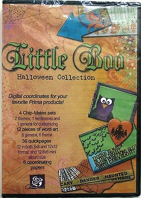 Prima Little Boo Halloween Collection Digital Scrapbooking Image CD