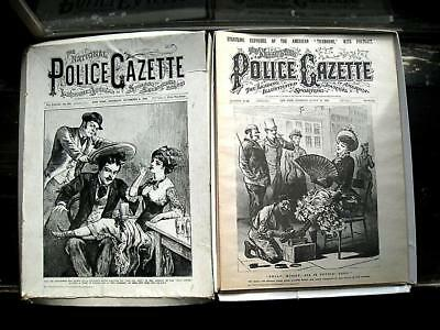 National Police Gazette 1879-1882 Victorian Boxing Jesse James Garfield Assassin