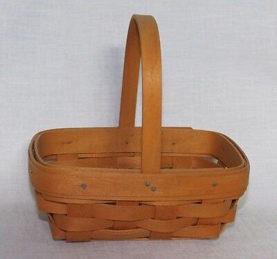 Longaberger 2000 Parsley Booking Basket with Handle