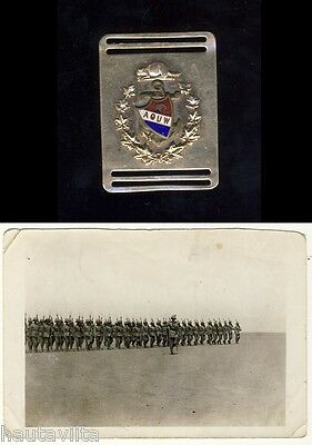 Boer War Canada WW1 Vet Officer CAVC AVC AOUW Gold Watch Fob + Pre WW1 Photo