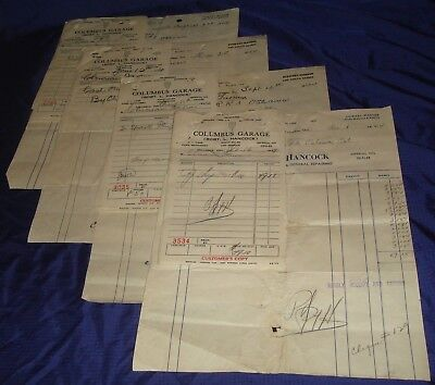 BR660 Vtg Columbus ON 1944/45 Robert L Hancock 4 Invoices & Charges