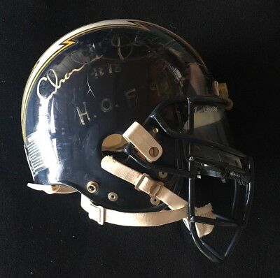 San Diego Chargers Helmet Game Used Worn Riddell Signed Auto Winslow Joiner RARE