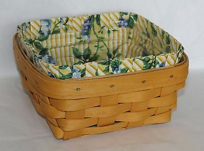 Longaberger 1998 Small Square Berry Basket Combo