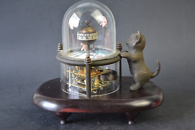 Collectible Used Mechanical Clock Cat Cute Decor Regular Work (Only Hour)