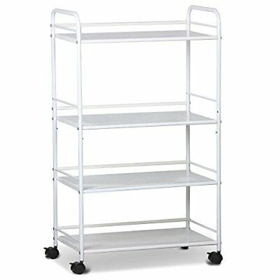 4 Tier Utility Rolling Trolley Cart Perfect for a Professional Salon or Home Use
