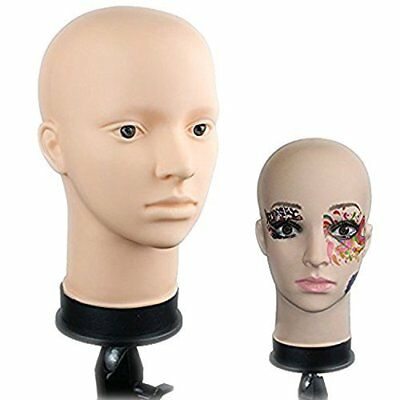 Soft Silicone Vinyl Mannequin Head Perfect for Make up Massage and Wig Making