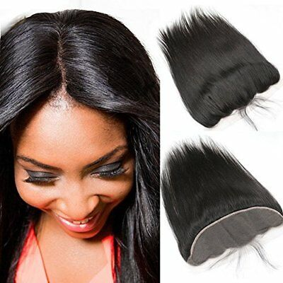 Brazilian Virgin Human Hair Full Lace Frontal w Baby Hair - Invisible Free Part