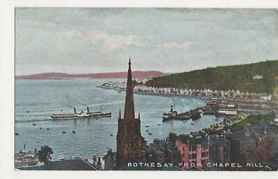 Rothesay from Chapel Hill Postcard, B084