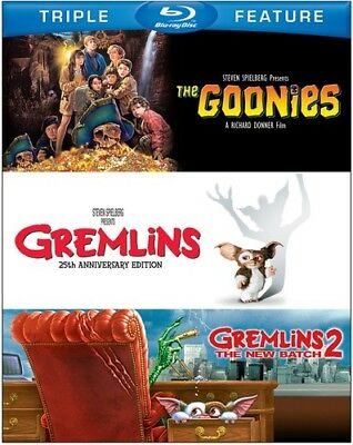 The Goonies / Gremlins / Gremlins 2: The New Batch [New Blu-ray] 3 Pack