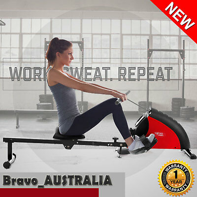 Exercise Rowing Machine Fitness Magnetic Flywheel Resistance Home Gym HIIT Rower