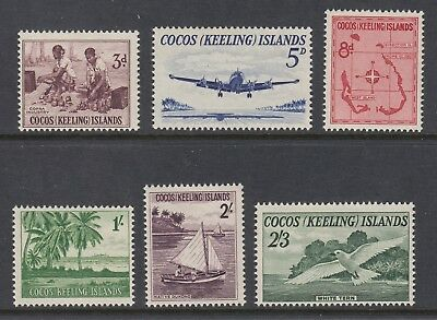 COCOS ISLANDS 1963 PICTORIALS set of 6 Mint Never Hinged