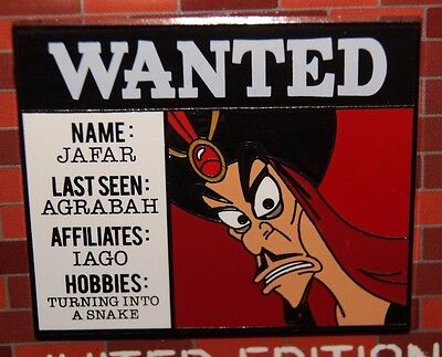 Disney DLR Cast Exclusive Wanted Collection JAFAR ALADDIN  Monthly LE Pin