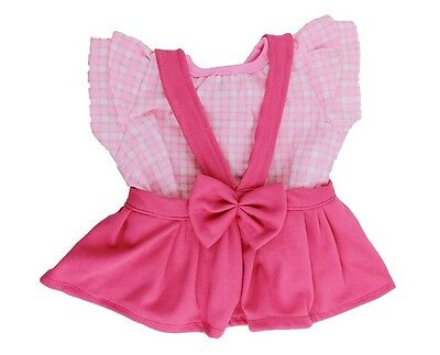 "Pink bow outfit teddy Bear clothes fits 15"" Build a Bear"