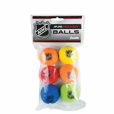 "Franklin Sports Indoor Outdoor NHL Shot Zone Mini 2"" Hockey Balls Soft EVA Foam"