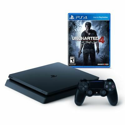 NEW! PlayStation 4 Slim 500GB Uncharted 4: A Thief's End PS4 Bundle