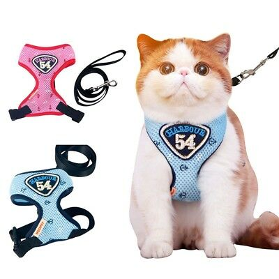 Hot Cat Harness Puppy Strap Vest Comfortable Leash Walking Set For Small Pet