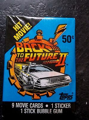 Vintage Topps Back to the Future 2 . One Sealed/Unopened Wax Pack 1989