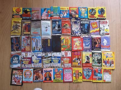 Vintage-Non-Sport-Sport-Trading-Cards-Stickers,waxs-Packs-Lot-Of-50-Mixed Packs