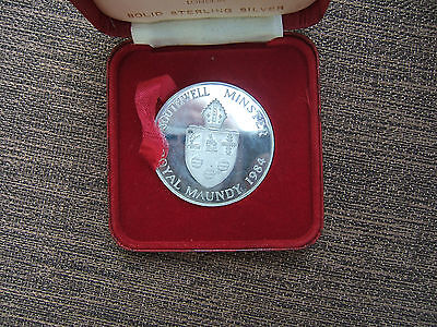 1984 Rare Silver Maundy Money Piece..... Southwell Minster..   Limited Ed Of 500