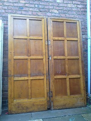 A Pair of Huge Victorian Oak Panelled Double / French Doors