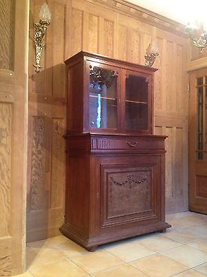 War Time French Vintage Designer Extending Campaign Bed concealed in a Cabinet