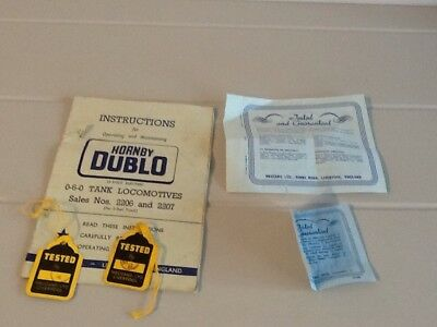 Hornby Dublo Instructions Operating And Maintaining Electric Trains Etc Et