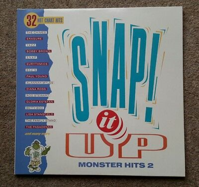 "33rpm Double LP ""Snap It Up Monster Hits 2""- HITS 12 from 1990 - super condition"