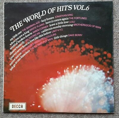 "33rpm LP ""The World of Hits Vol.6"" - 12 DECCA hits - in super playing condition"