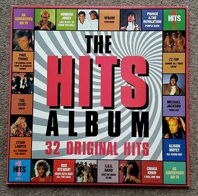 "33rpm Double LP ""Hits 1"" 32 various artists - Hits 1 - in super condition"
