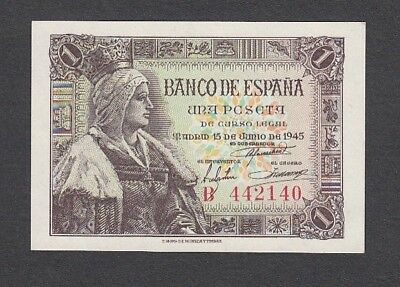 1 Peseta From Spain 1945 A5 Unc