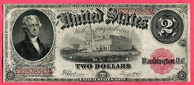 Docs Hard to Find $2.00 Large Size US Note Series 1917 + Free Shipping! NR