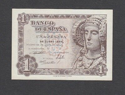1 Peseta From Spain 1948 A5 Unc