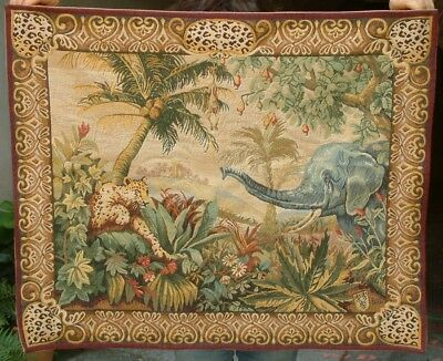 Vintage French tapestry .