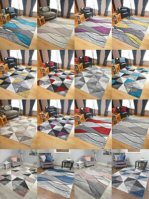 Impulse Thick Quality Modern Carved Rugs Runner Small Extra Large Soft Mat Cheap