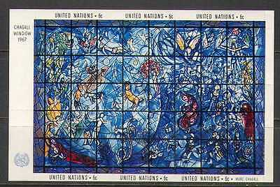 UN (NY) 1967 Stained Glass/Art/Chagall/Artists/People 6v m/s (n22984)