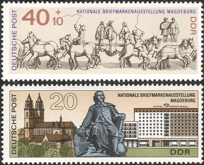 Germany 1969 Otto von Guericke/Science/Horses/Buildings/StampEx 2v set (n45042)