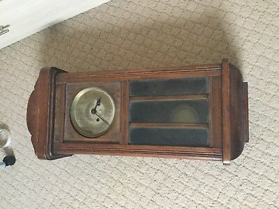 Old Vintage Antique Wall Clock Spares Or Repairs