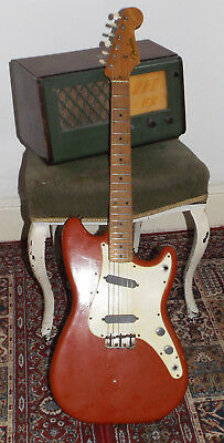 Vintage 1958 Fender Duosonic Electric Guitar Duo Sonic red offset USA pre CBS