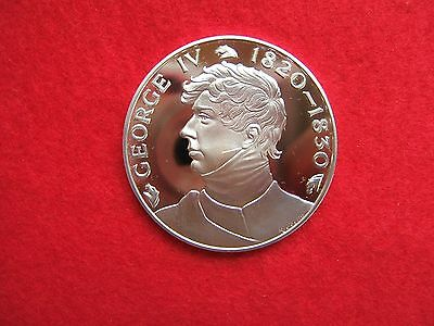 KING GEORGE  IV SILVER MEDALLION BY JOHN PINCHES LONDON.. 39grms............177