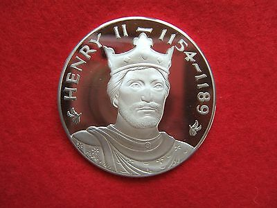 HENRY II SILVER MEDALLION BY JOHN PINCHES LONDON.. 39grms....................177